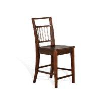 "Mossy Oak 24""H Barstool, Wood Seat Product Image"