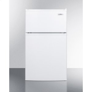 SummitCompact Energy Star Listed Two-door Refrigerator-freezer With Cycle Defrost and Zero Degree Freezer