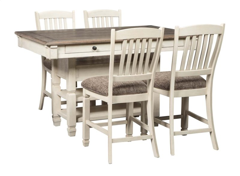 D647D4 in by Ashley Furniture in Chippewa Falls, WI - Bolanburg - Antique  White 5 Piece Dining Room Set - D647D4 In By Ashley Furniture In Chippewa Falls, WI - Bolanburg