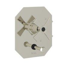 Polished Nickel Bellia Pressure Balance Trim With Diverter