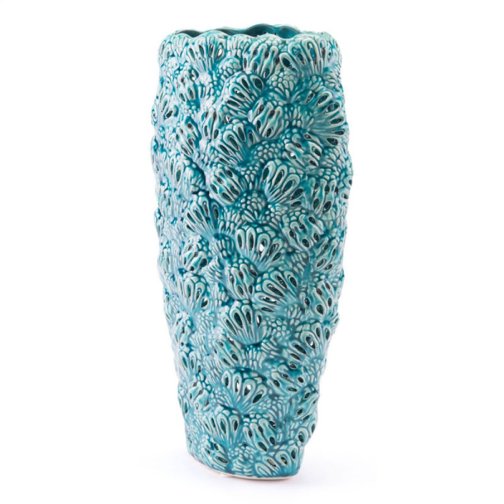 Petals Md Vase Teal