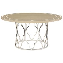 Savoy Place Round Dining Table in Chanterelle with Ivory Accent (371)