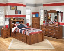 Barchan - Medium Brown 6 Piece Bedroom Set