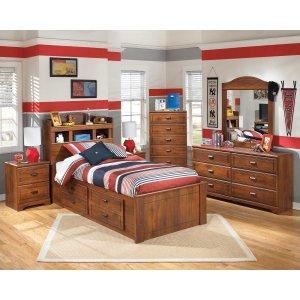 Ashley Furniture Barchan - Medium Brown 6 Piece Bedroom Set