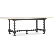 Dining Room Ciao Bella 84in Trestle Table Base- Black