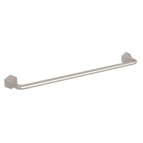 "Satin Nickel Bellia Wall Mount 24"" Single Towel Bar"