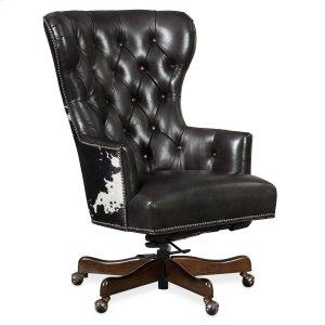 Hooker FurnitureHome Office Katherine Executive Swivel Tilt Chair w/ Black & White HOH