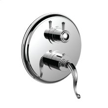"7098fl-tm - 1/2"" Thermostatic Trim With 3-way Diverter Trim (shared Function) in Polished Chrome"