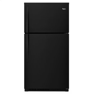 33-inch Wide Top Freezer Refrigerator - 21 cu. ft. - BLACK