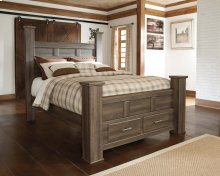 Juararo - Dark Brown 4 Piece Bed Set (Queen)