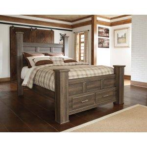 Ashley Furniture Juararo - Dark Brown 4 Piece Bed Set (Queen)