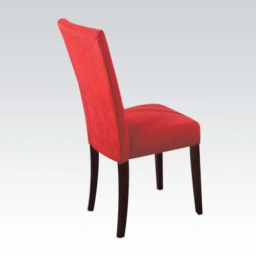 BEIGE MICROFIBER SIDE CHAIR