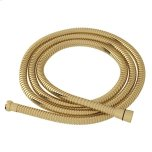 """RohlUnlacquered Brass 59"""" Metal Shower Hose Assembly"""
