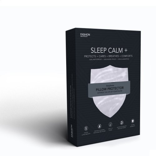 Sleep Calm + Ultra-Premium Pillow Protector with Moisture and Bacteria Resistant Crypton Fabric, King / California King