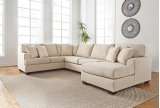 Brioni Nuvella - Sand 3 Piece Sectional Product Image