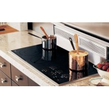"""CT36EP 36"""" Framed Electric Cooktop - Classic Platinum"""