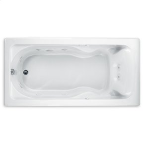 Cadet 72 Inch by 42 Inch EverClean Whirlpool Bathtub  American Standard - White