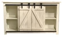 "Lagos 60"" Barn Door TV Stand-White"