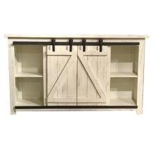 """Lagos 60"""" Barn Door TV Stand-White"""