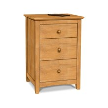 Lancaster 3-Drawer Hideaway Nightstand. Comes with electrical strip
