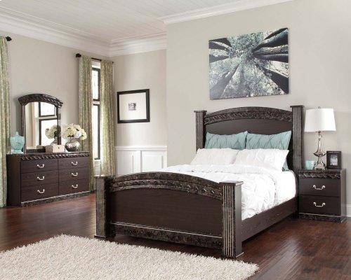 Vachel - Dark Brown 4 Piece Bed Set (Queen)