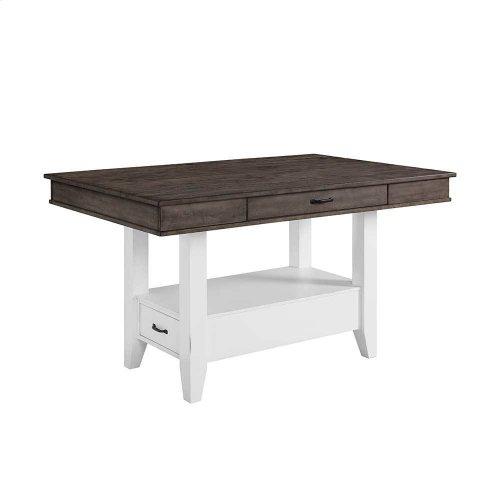 Belgium Farmhouse Counter Table w/Drawers