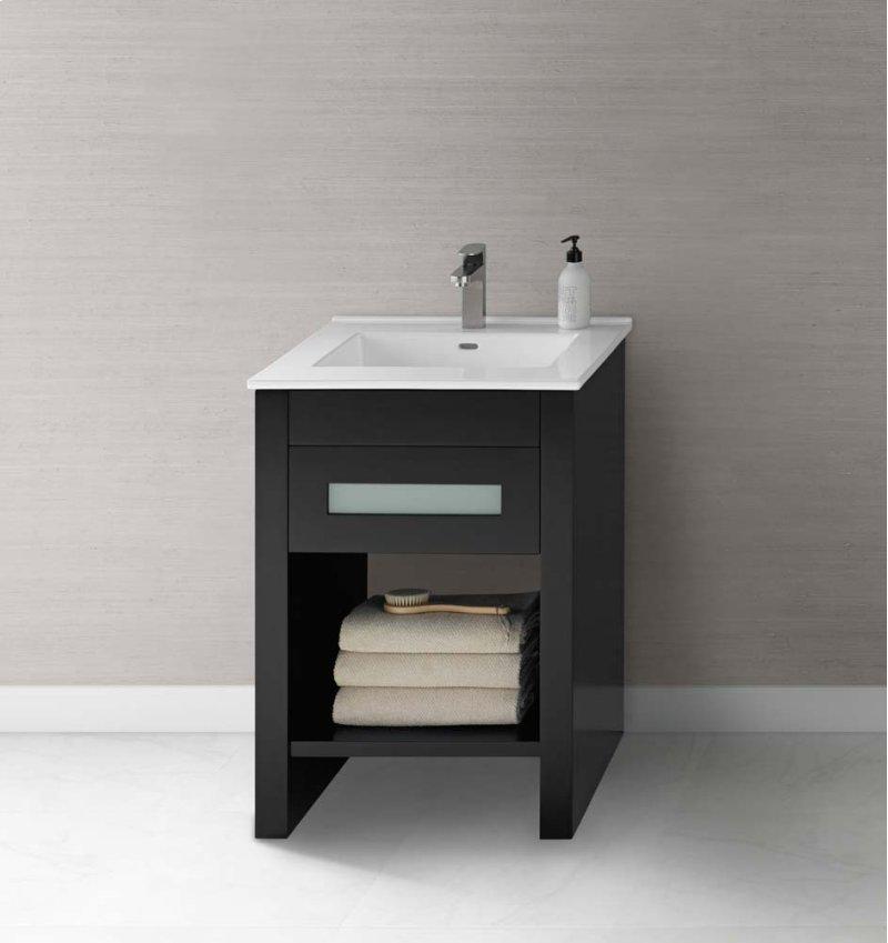 """Kendra 23"""" Bathroom Vanity Base Cabinet in Black"""