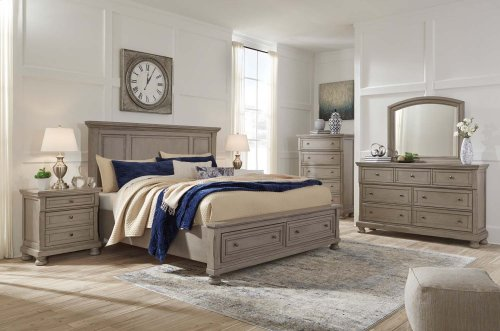 Lettner - Light Gray 2 Piece Bedroom Set