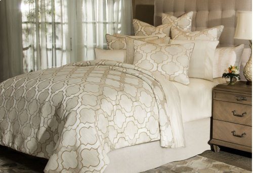 10pc Queen Comforter Set Pearl