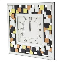 Square Clock W/colored Accents