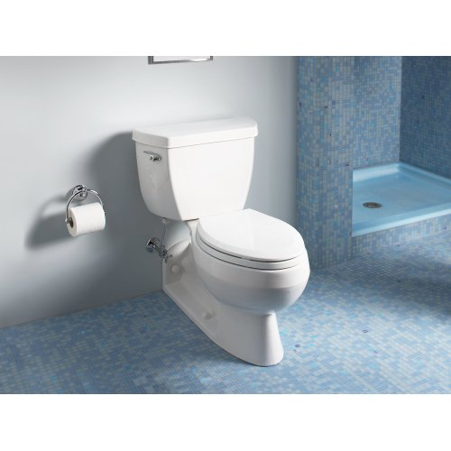 Biscuit Two-piece Elongated 1.6 Gpf Toilet With Pressure Lite Flushing Technology and Left-hand Trip Lever