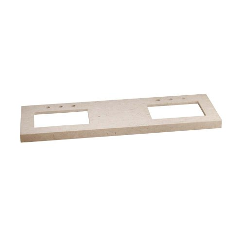 """WideAppeal™ 62"""" x 19"""" Marble Vanity Top in Cream Beige - 2 3/4"""" Thick"""