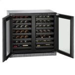 "U-LINE36"" Dual-zone Wine Refrigerator With Integrated Frame Finish (230 V/50 Hz Volts /50 Hz Hz)"