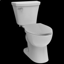 White Elongated Toilet