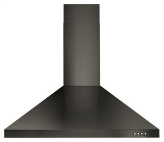 """30"""" Contemporary Black Stainless Wall Mount Range Hood"""