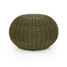 Olive Rope Finish Phoenix Outdoor Accent Stool