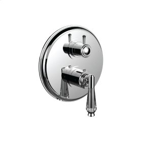 "1/2"" Thermostatic Trim With 3-way Diverter Trim (shared Function) in Satin Nickel"