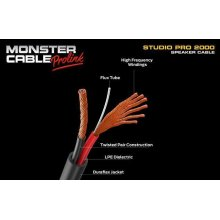 Monster® Studio Pro 2000 Speaker Cable with Speak-On Connectors - 3 ft.