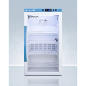 SummitPerformance Series Med-lab 3 CU.FT. Glass Door Counter Height All-refrigerator