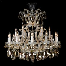 La Scala 19 Light Chandelier Cognac
