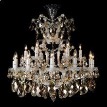La Scala 19 Light Chandelier Cognac