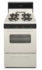 24 in. Freestanding Sealed Burner Spark Ignition Gas Range in Biscuit Product Image