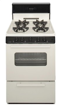 24 in. Freestanding Sealed Burner Spark Ignition Gas Range in Biscuit