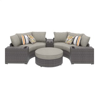 Spring Dew II Patio Sectional w/ 3 Consoles & Ottoman