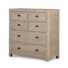 Post & Rail 6 Drawer Tallboy Chest Cabin