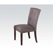 Gray Microfiber Side Chair