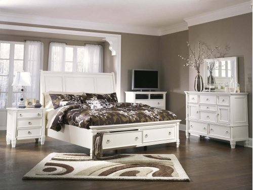 Prentice - White 3 Piece Bed Set (King)