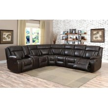 Hudson Brown 6P Sectional Sofa set