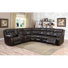 Hudson Brown 6P Sectional Sofa set