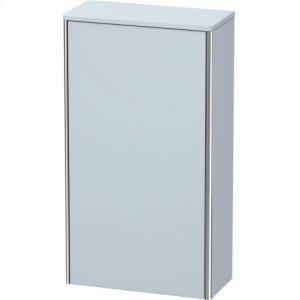Semi-tall Cabinet, Light Blue Satin Matt Lacquer
